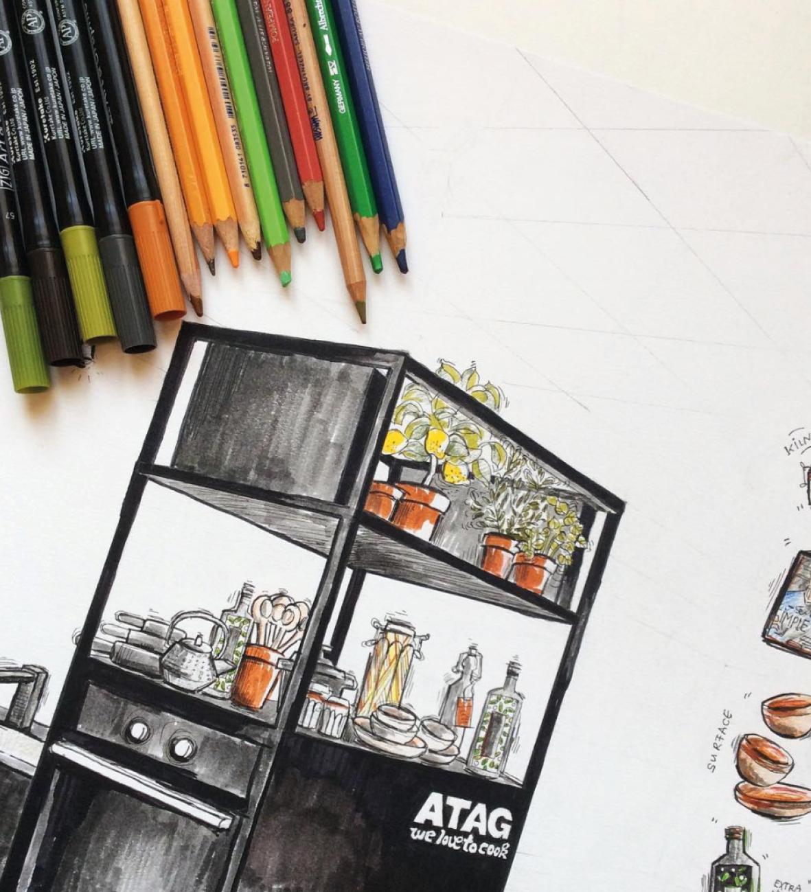 Atag kitchen illustration