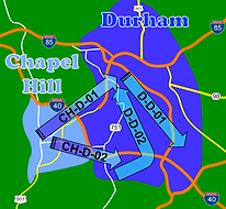 Point-to-Point Rates to/from Points in Durham and Chapel Hill, NC.