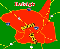 Point-to-Point Rates to/from Points in Raleigh, NC.