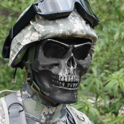 New Skull Skeleton Half Face Mask (Military use only ID required for purchase)