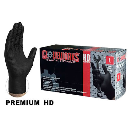 Black Nitrile Gloves - Heavy Duty