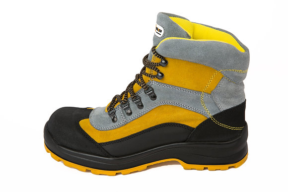 Steel Toe Leather Boots - Yellow/Black
