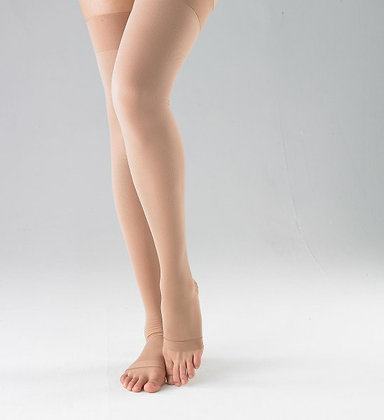 Above Knee Stockings w/Open Toe