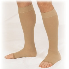 Below Knee Stockings w/Open Toe