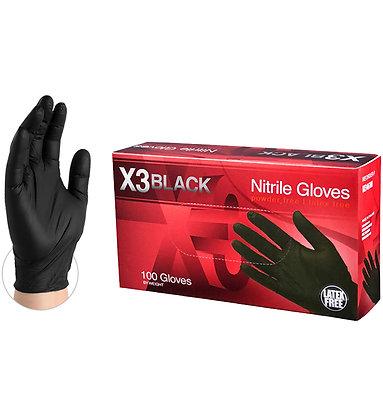 X3 Black Nitrile Gloves