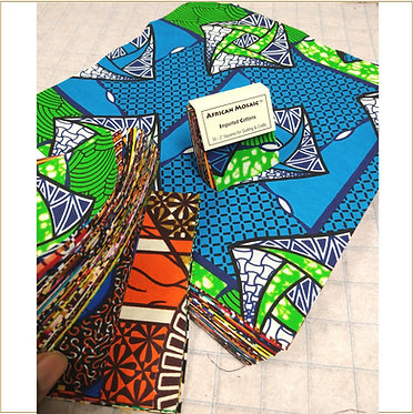 African Brilliance Collection - Precut SQUARES (3 options)