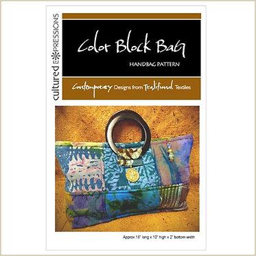 Color Block Bag Pattern - DIGITAL