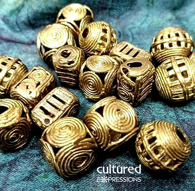 Brass Cage Beads