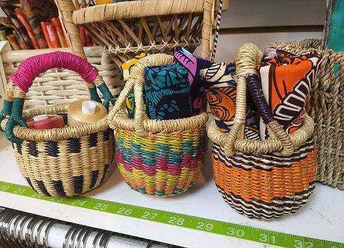 Baby Bolga Basket Gift Set (Basket + 3 FQs)