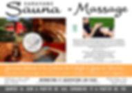 Caravane sauna et massage communication.