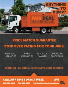 Junk removal flyer