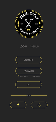 Login/Sign up page