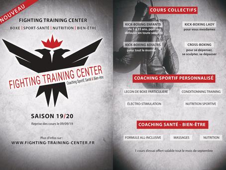 Le Fighting Training Center ouvre ses portes le 9 sept. prochain !