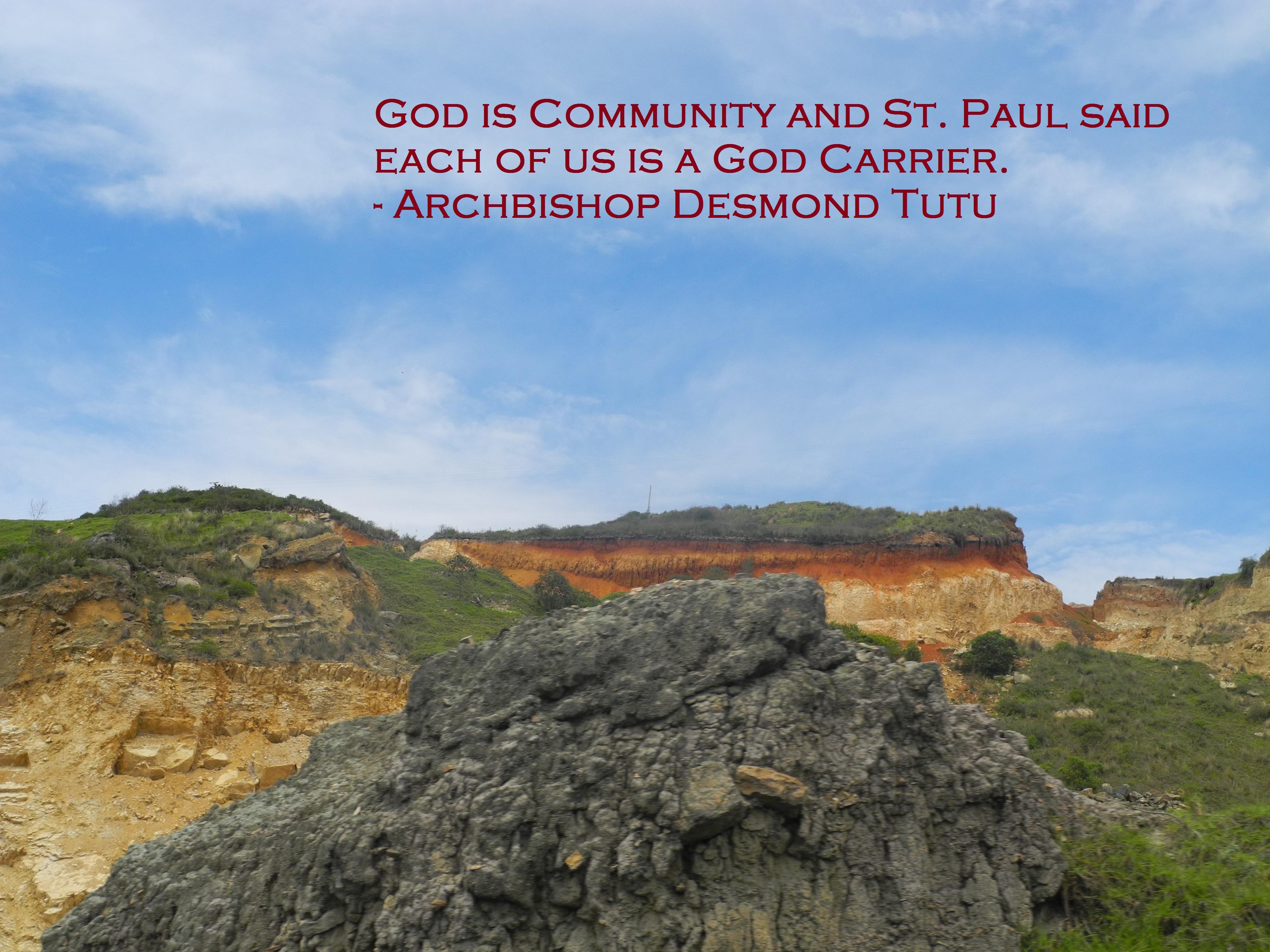 God is community.