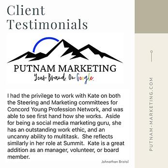 Client Testimonial J. Bristol