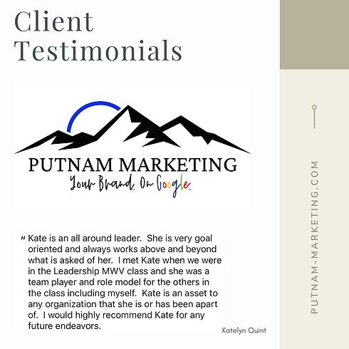Client Testimonial Katelyn Quint
