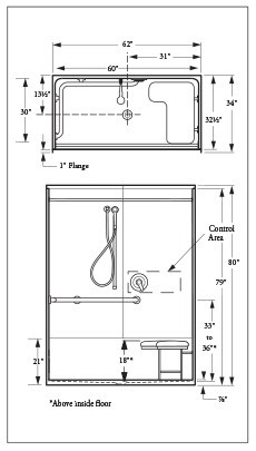 Jaeger USA Shower Sealing Systems: Shower Tray