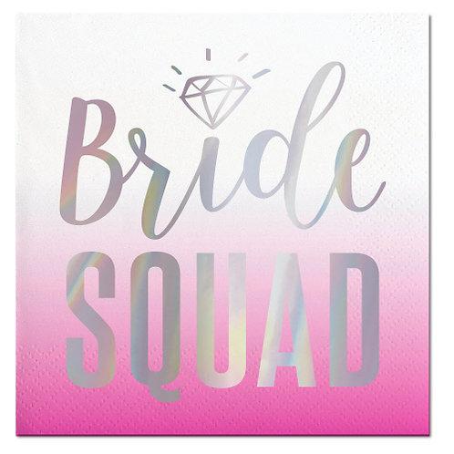 Foil Beverage Napkin Bride Squad