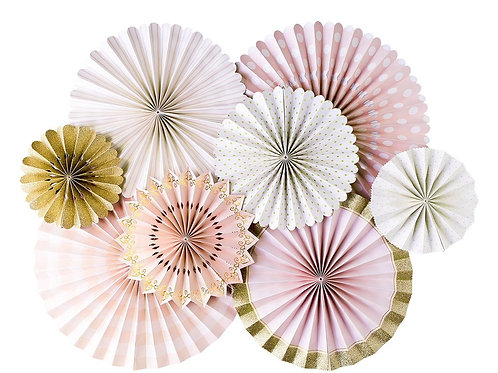 princess party fans (8 pieces)