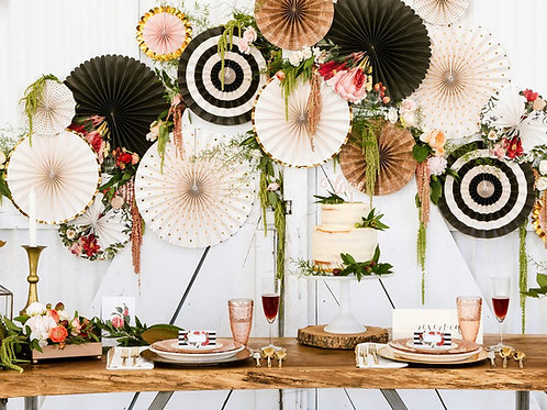 Botanical Party Fans (8 pieces)