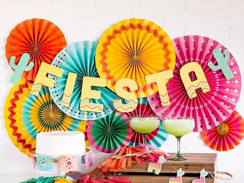 Fiesta Party Fans (8 Pieces)