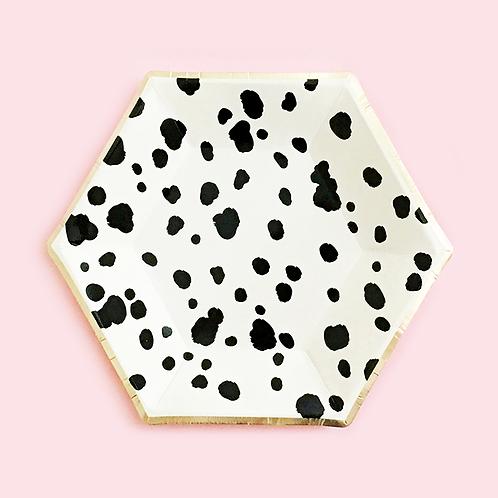 Dalmatian Print Dessert Plates