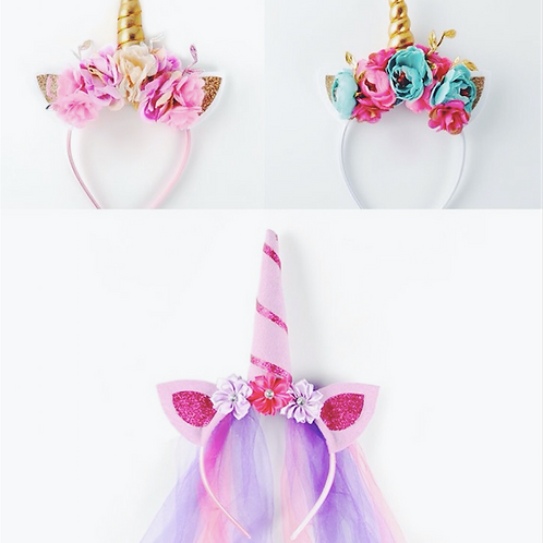 Floral Unicorn Headband