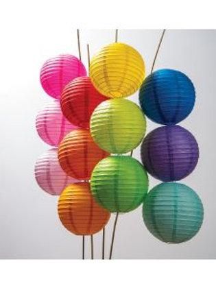 Pack of 12 Rainbow Paper Lanterns