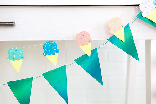 Mini Ice Cream Garland
