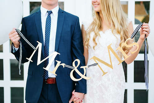 Gold Mr and Mrs Banner