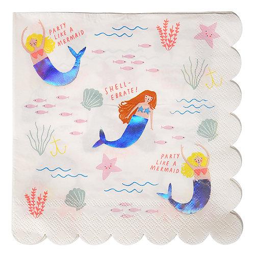 Large Mermaid Napkin