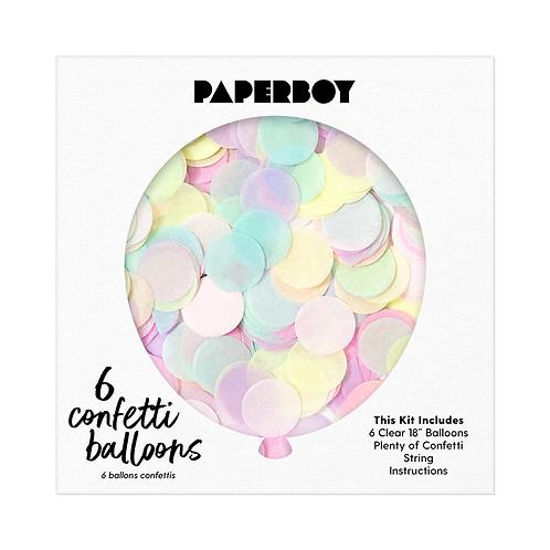Pastel Rainbow Confetti Balloon Kit