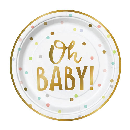 Oh Baby Plates 7x7