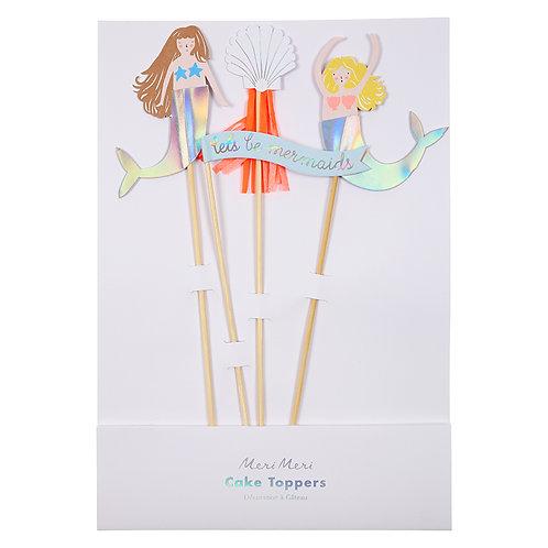 Mermaid Cake Toppers