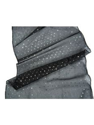 Sequin and Organza Table Runner in Black Tie