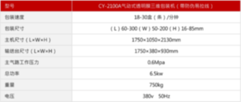 CY-2100A气动式透明膜三维包装机(帶防伪易拉线)