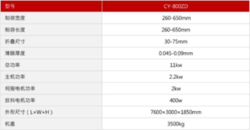 CY800ZD全自动软手袋制袋机(四功能)(带伺服电机)