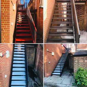 Metal stairs painting