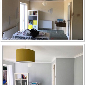 Before and after Painting & decorating