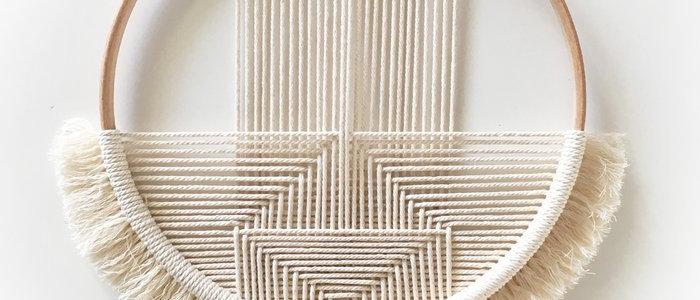 Handmade crochet wallhanger | Geo Natural