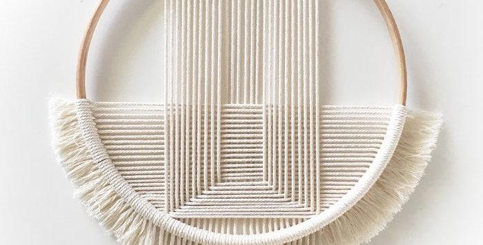 Handmade crochet wallhanger | Lines Natural