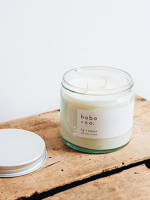 Hobo + Co Fig & Cassis large candle