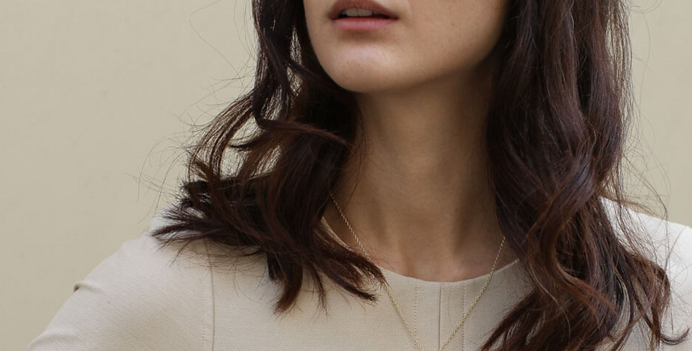 Gold Iris necklace