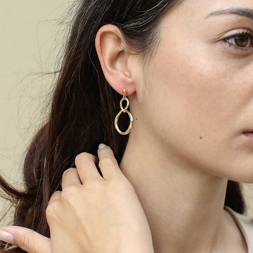 Gold Iris earrings