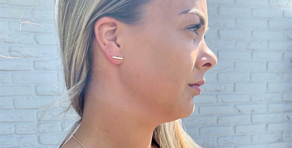 A Weathered Penny Bar earrings