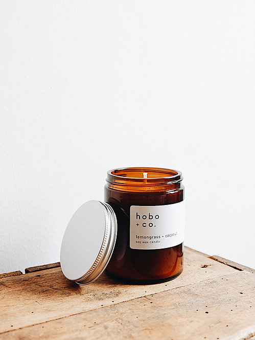 Hobo + Co Fig & Cassis jar candle