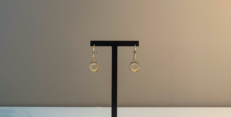 Fabien Ajzenberg Golden sun earrings