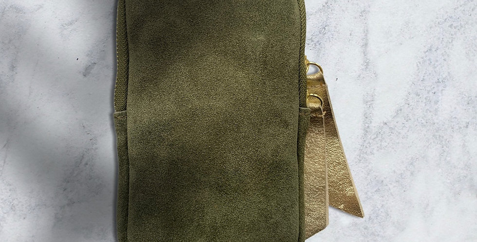 Mint & Molly Little green bag with gold details