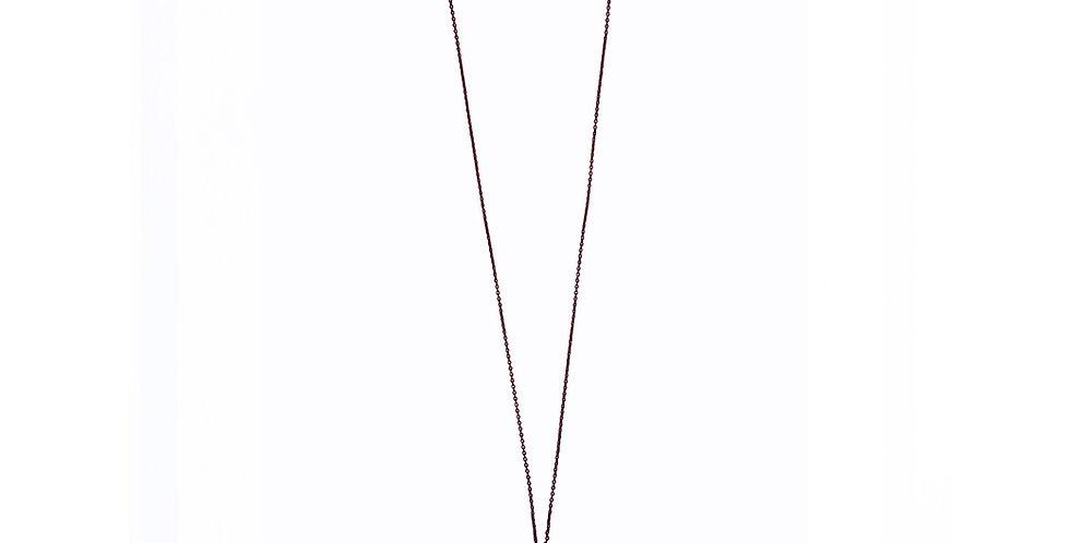 Les Petits Bisous Blue Feather necklace