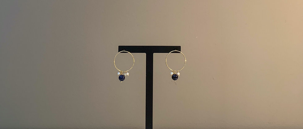 Fabien Ajzenberg Lapis blue earrings